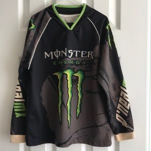 Monster Energy youth small dirt bike jersey